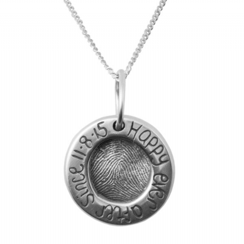 Loving Circle Fingerprint Necklace